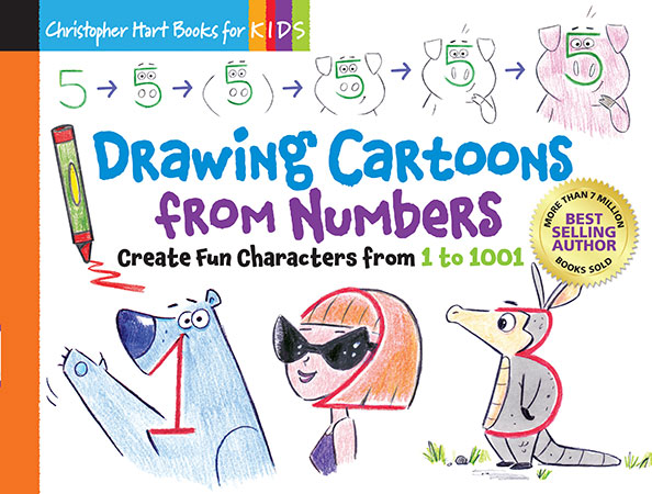 Drawing Cartoons from Numbers: Create Fun Characters from 1 to 1